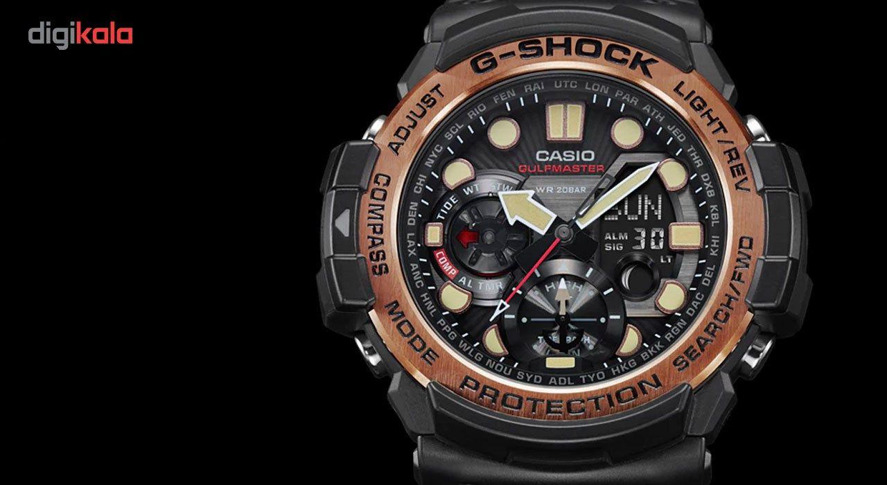 ساعت مچی عقربه ای مردانه کاسیو جی شاک مدل GN-1000RG-1ADR -  - 1