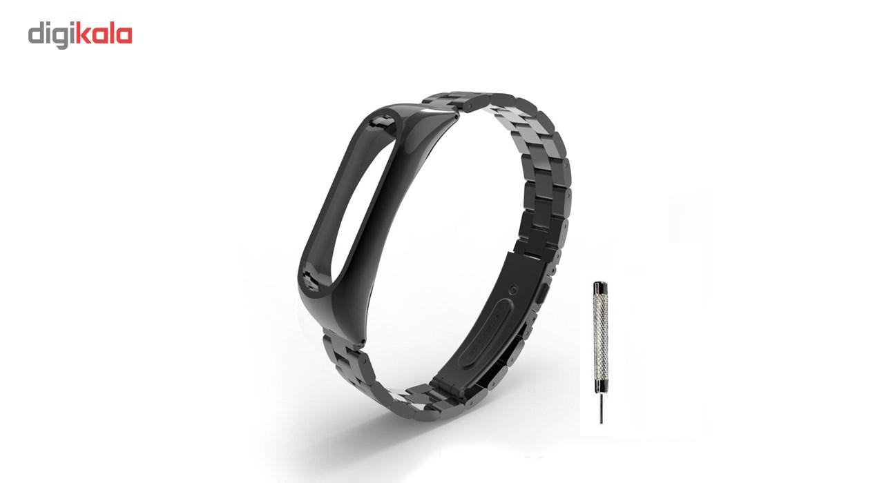 بند مچ بند هوشمند شیائومی مدل Mi Band 2 Stainless Steel 2
