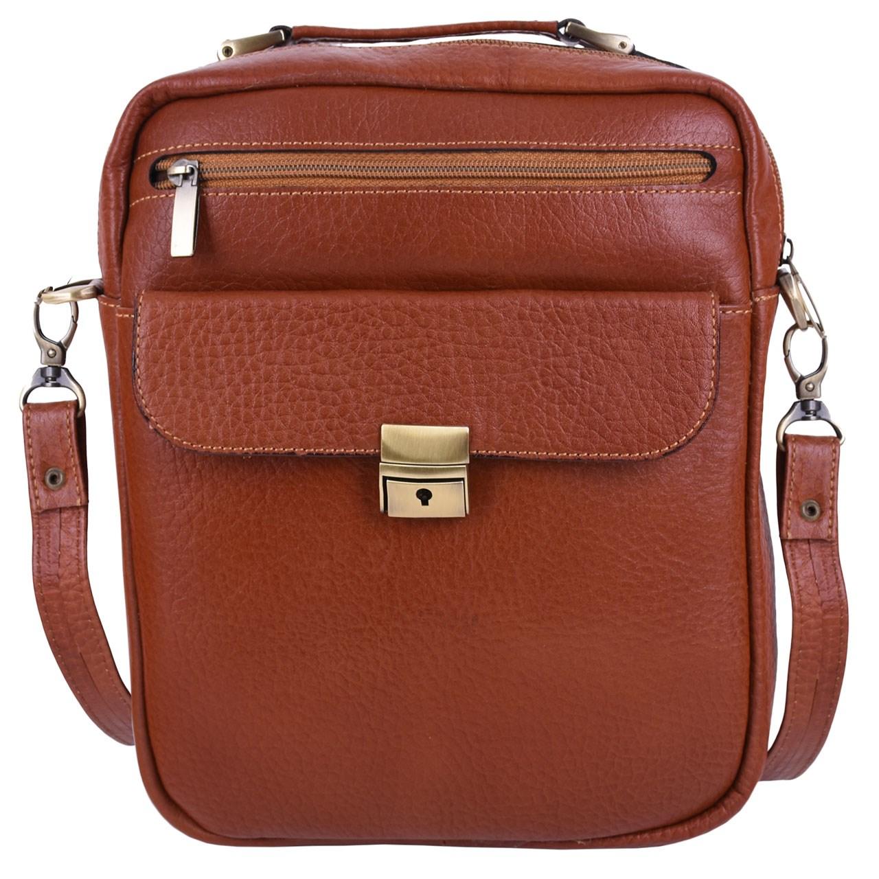 قیمت کیف چرم طبیعی پایاچرم طرح اسپرت کلیدی مدل 429