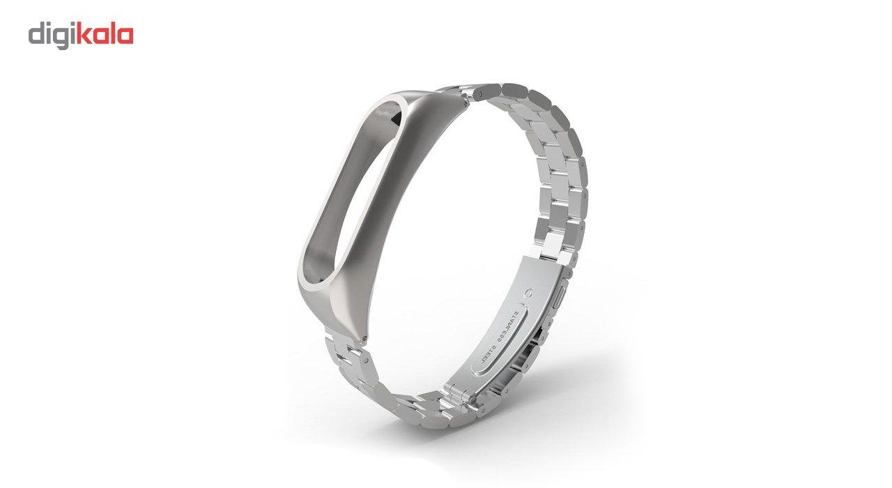 بند مچ بند هوشمند شیائومی مدل Mi Band 2 Stainless Steel 2 main 1 4