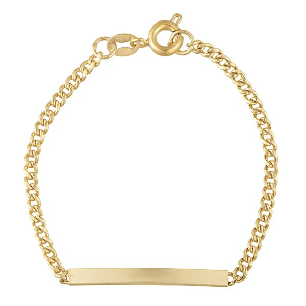 دستبند طلا 18 عیار دخترانه مدل BC01