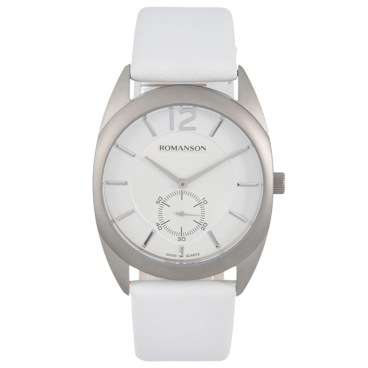 ساعت مچی عقربه ای مردانه رومانسون مدل TL1246MM1WAS2W 12