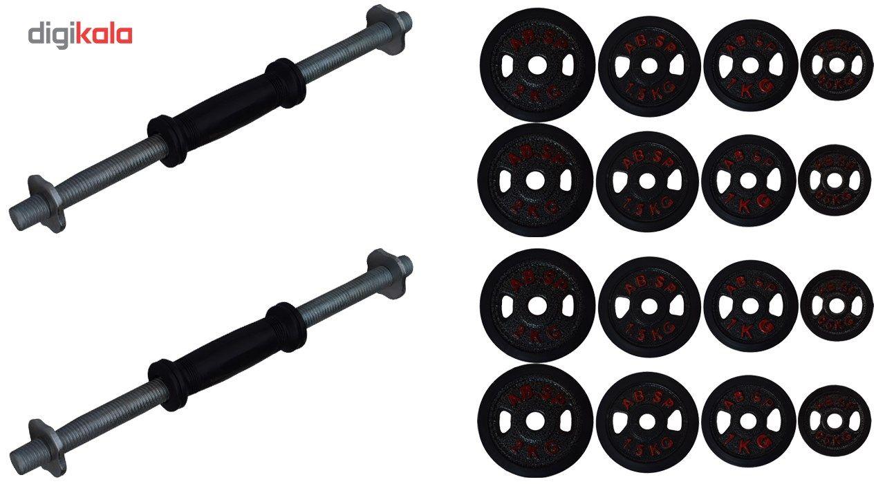 دمبل 10 کیلوگرمی مدل A1  بسته 2 عددی main 1 2