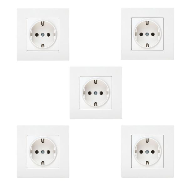 پریز برق ارت دار دلند مدل آسا بسته 5 عددی