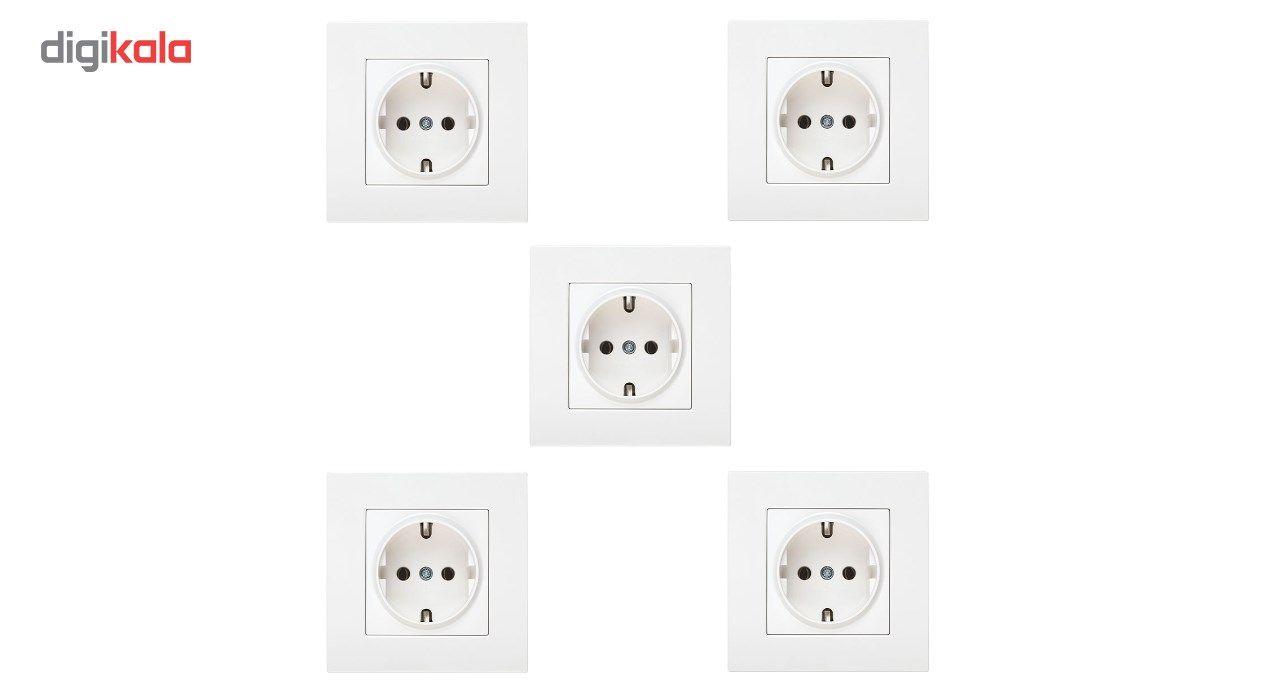 پریز برق ارت دار دلند مدل آسا بسته 5 عددی main 1 1