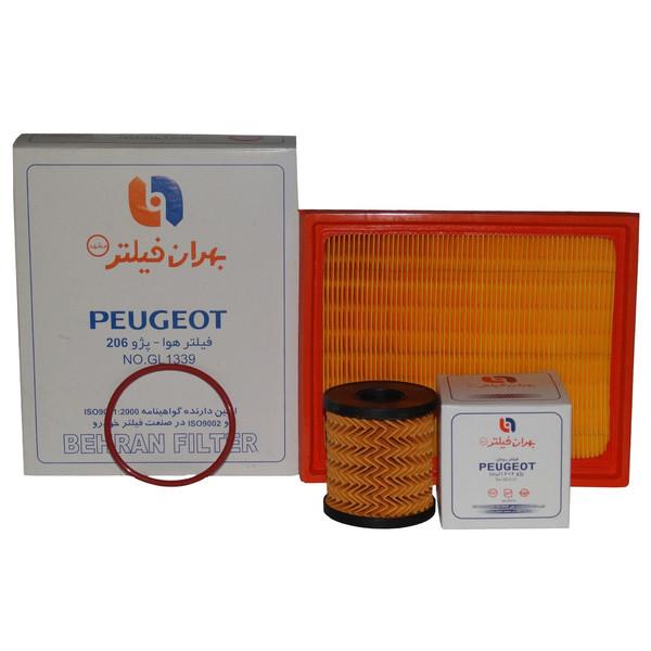 فیلتر هوا و فیلتر روغن خودرو بهران فیلتر مدل GL1339/1 مناسب برای پژو 206