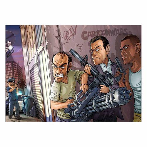 تابلو شاسی ونسونی طرح GTA V Comic سایز 30x40
