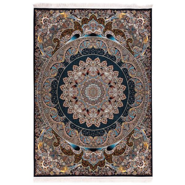 فرش ماشینی آدینا طرح راش  زمینه سرمه ای