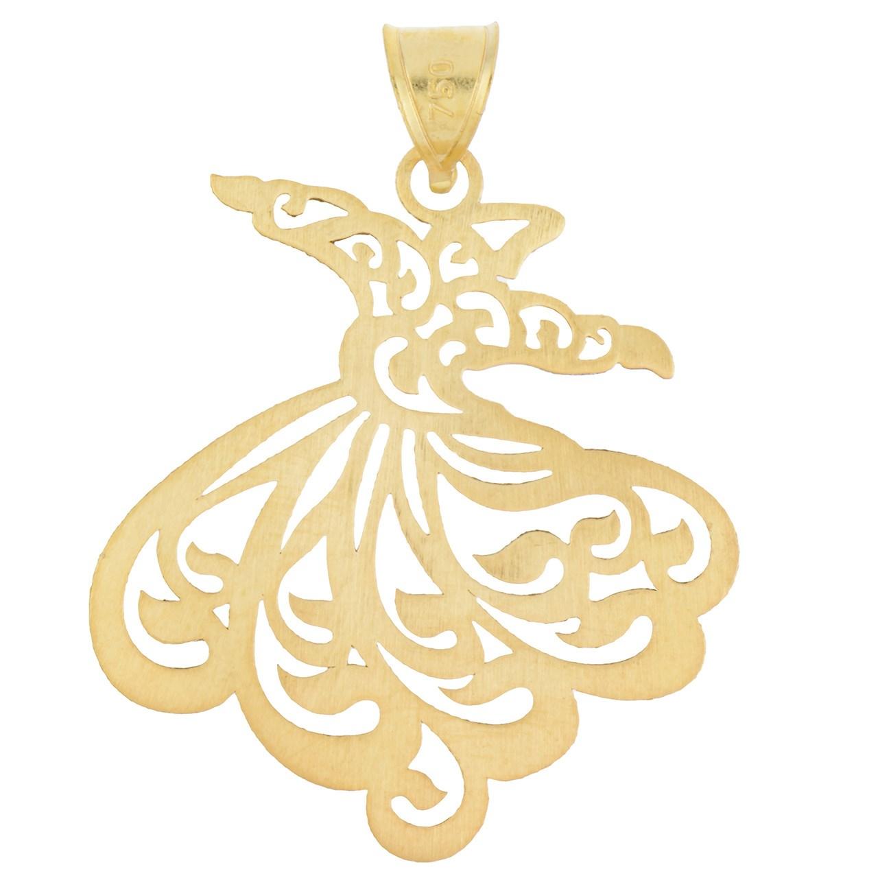 قیمت آویز گردنبند طلا 18 عیار رزا مدل N025