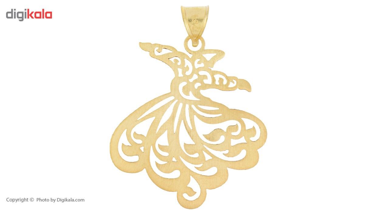 آویز گردنبند طلا 18 عیار رزا مدل N025