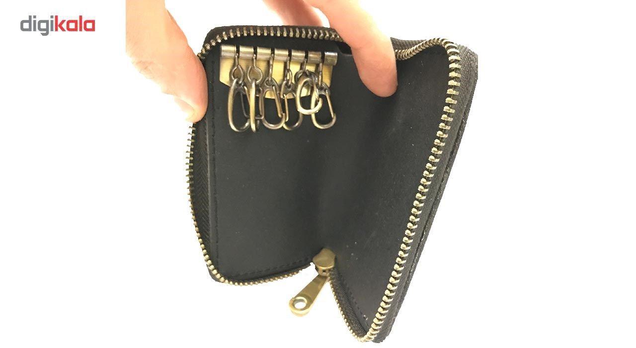 جاسوییچی چرم رایا مدل Zipper -  - 3