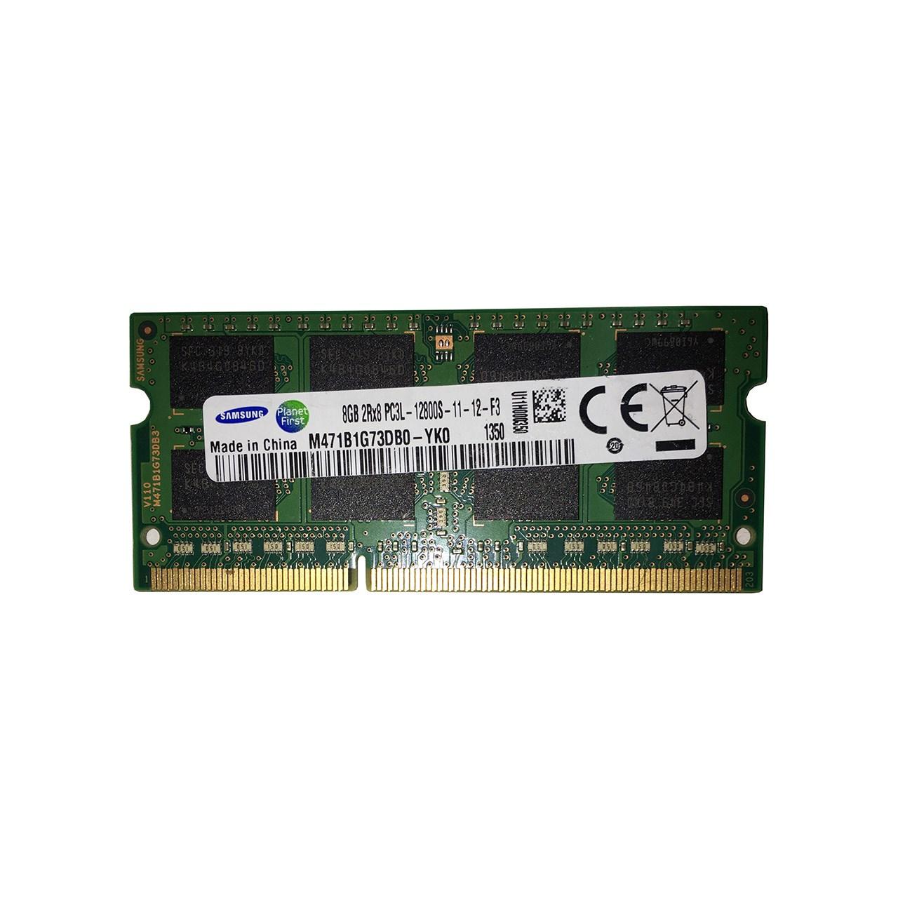 بررسی و {خرید با تخفیف} رم لپ تاپ سامسونگ مدل DDR3 12800s MHz PC3L ظرفیت 8 گیگابایت اصل