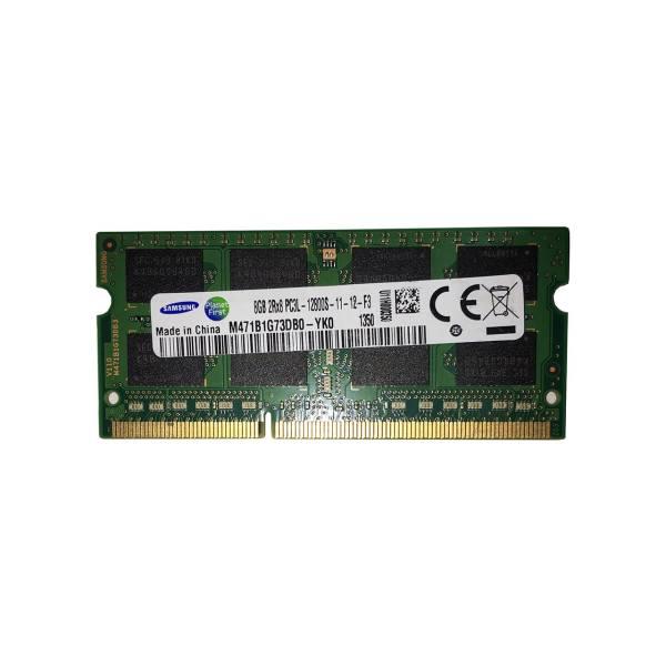 رم لپ تاپ سامسونگ مدل DDR3 12800s MHz PC3L ظرفیت 8 گیگابایت | Samsung DDR3 12800s MHz PC3L RAM - 8GB