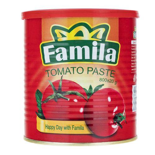 کنسرو گوجه فرنگی خرد شده فامیلا مقدار 800 گرم
