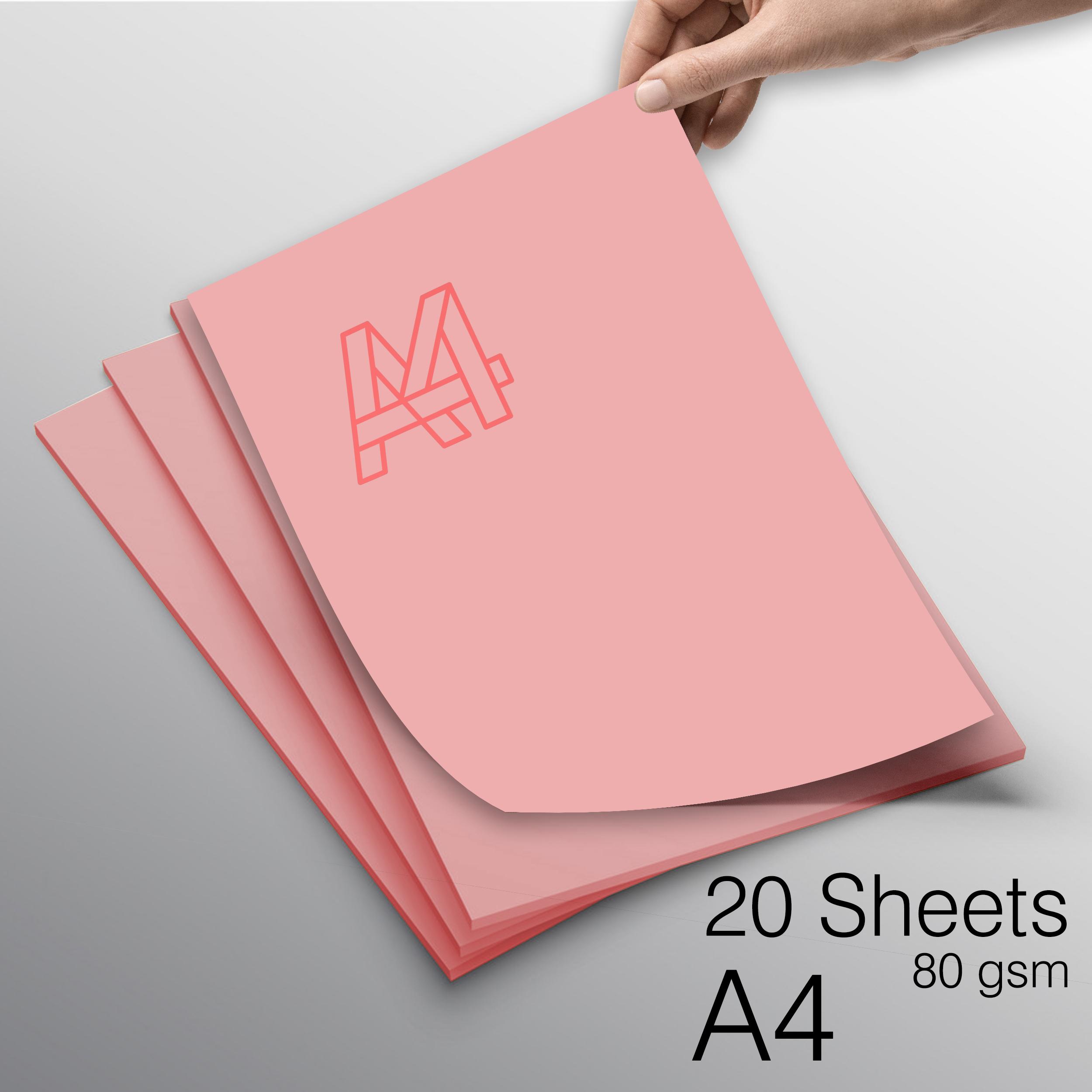 کاغذ رنگی A4  FG کد Pi-20 بسته 20 عددی