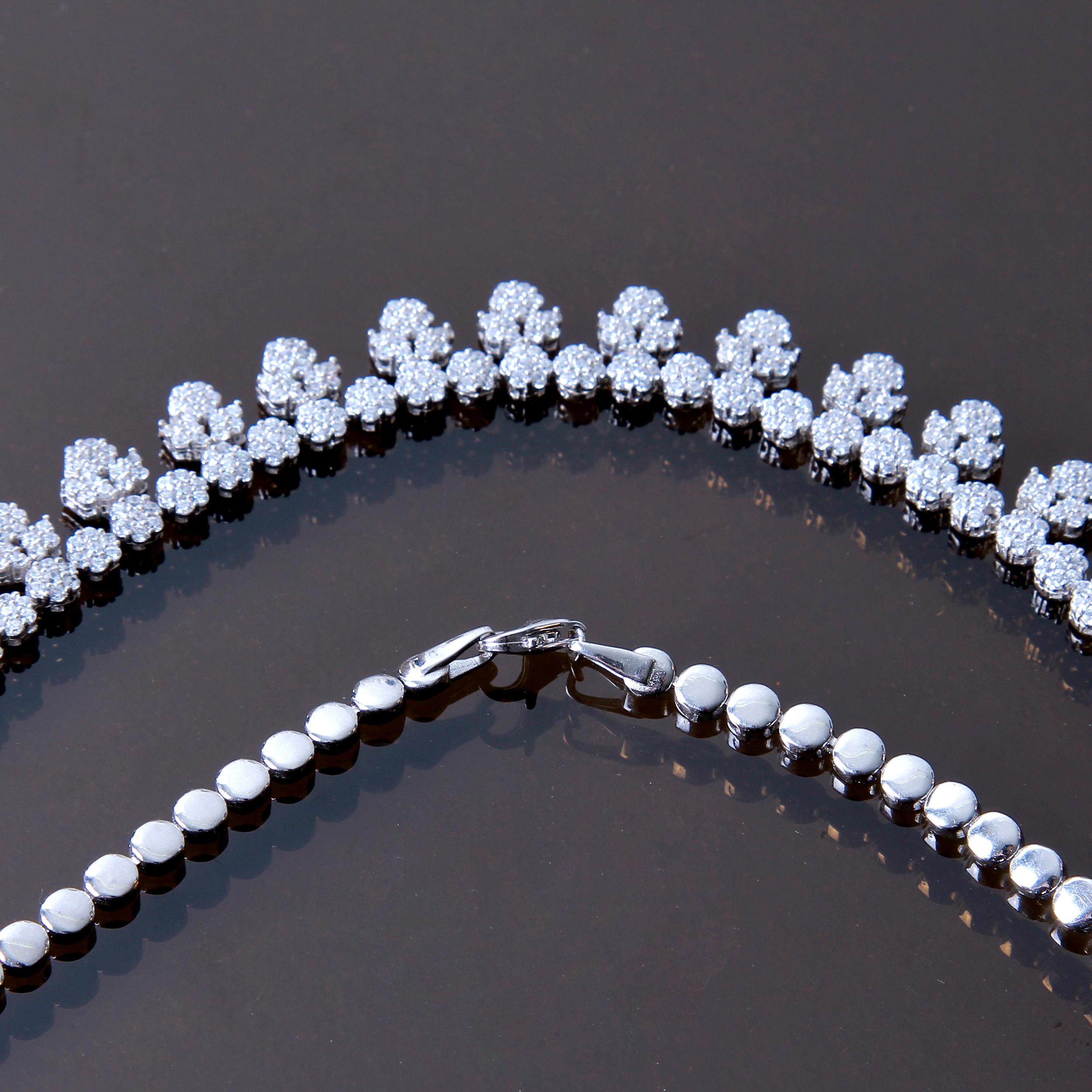 خرید                                      نیم ست نقره زنانه بازرگانی میلادی کد NTR_213