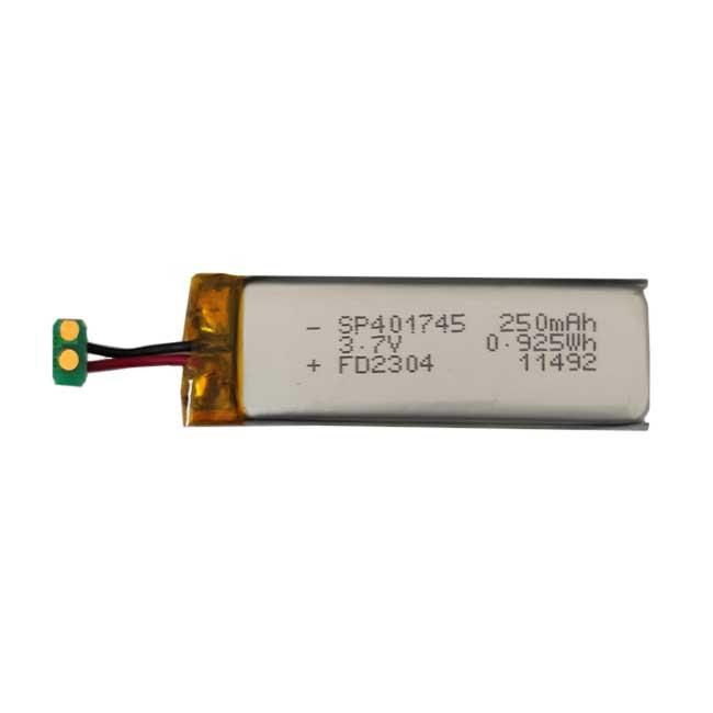 بررسی و {خرید با تخفیف}                                     باتری لیتیوم یون مدل  SP401745 ظرفیت 250 میلی آمپر ساعت                             اصل