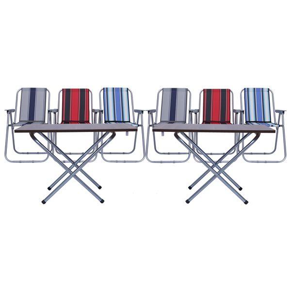 میز و صندلی سفری مدل s66 مجموعه 8 عددی