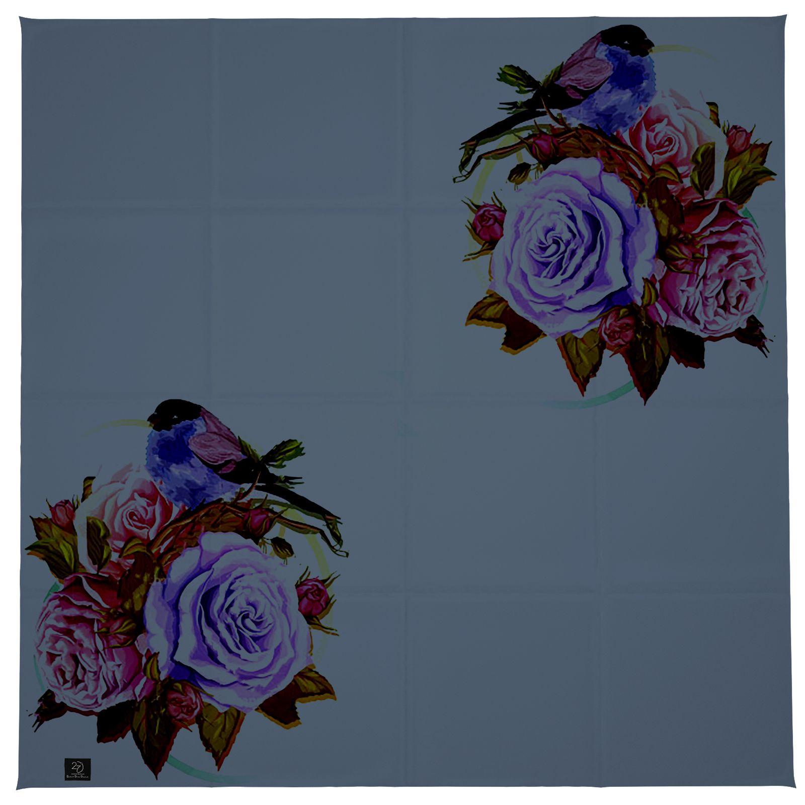 روسری زنانه 27 طرح پرنده و گل کد H06 -  - 9