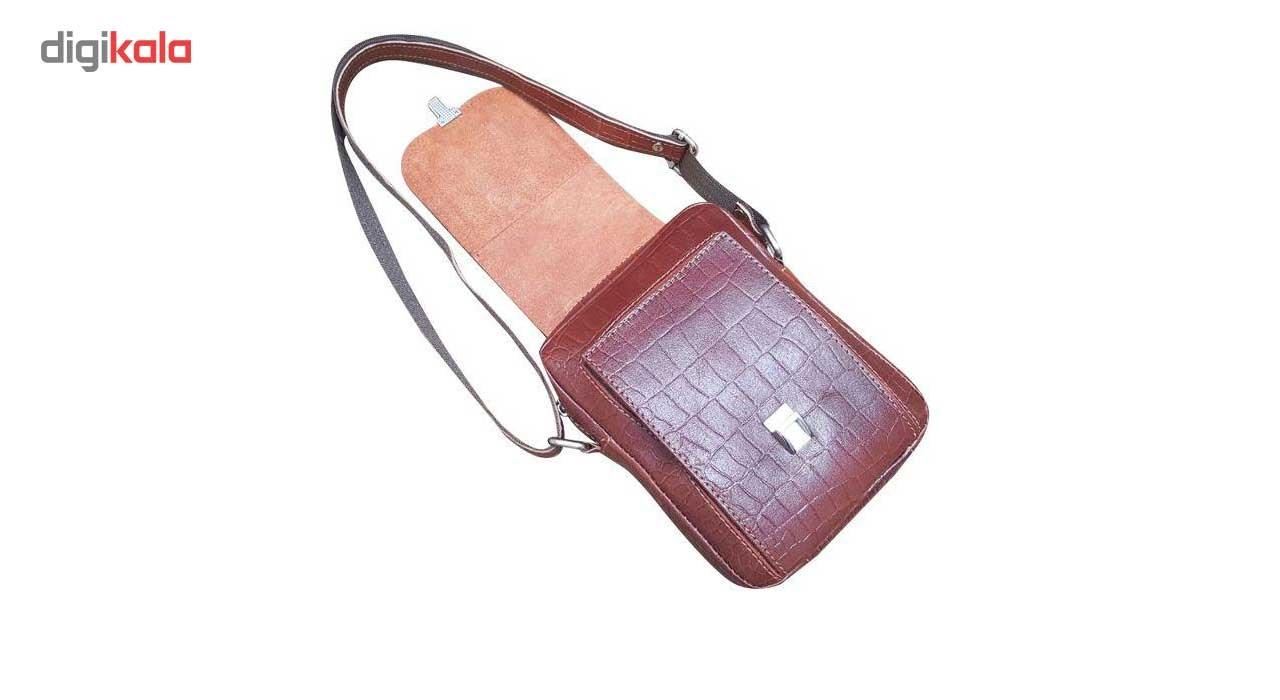 کیف رو دوشی زانکو چرم مدل کرو کد KD-132 main 1 7