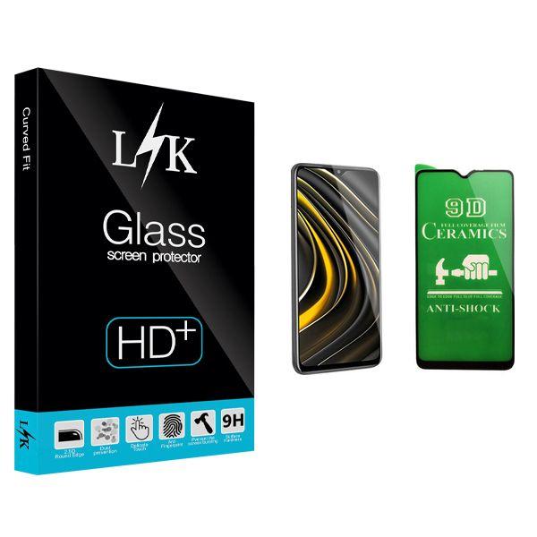 محافظ صفحه نمایش سرامیکی ال کی مدل +HD مناسب برای گوشی موبایل شیائومی Poco M3