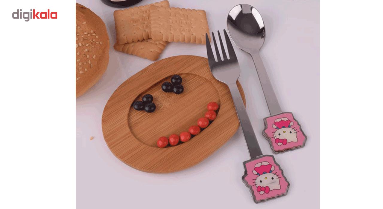 قاشق و چنگال وینز مدل Hello Kitty main 1 3