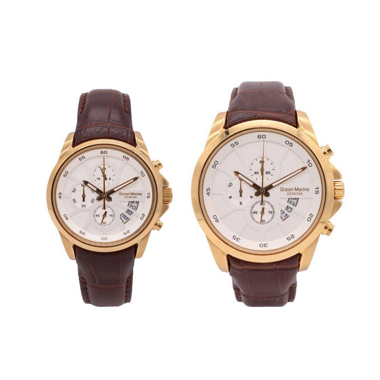 خرید ساعت ست مردانه و زنانه اوشن مارین مدل OM-8103L-1 و OM-8103G-1