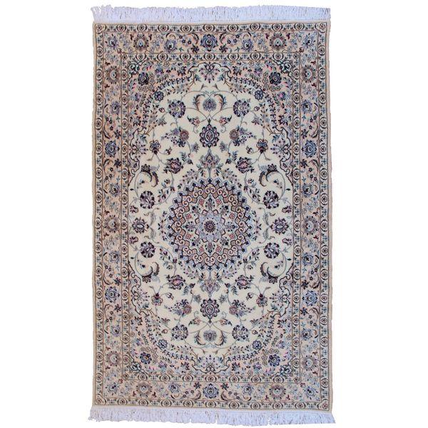 فرش دستبافت گل ابریشم گالری سلام کد961001 طرح لچک و ترنج