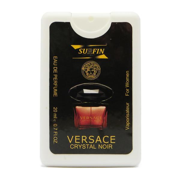 عطر جیبی زنانه سورفین مدل Versace Crystal Noir حجم 20 میلی لیتر