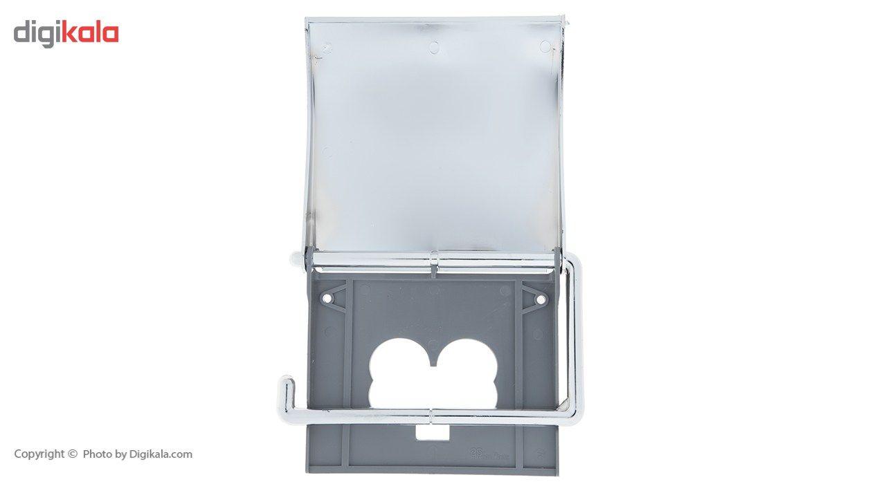 جای دستمال توالت سنی پلاستیک مدل Sarv main 1 3