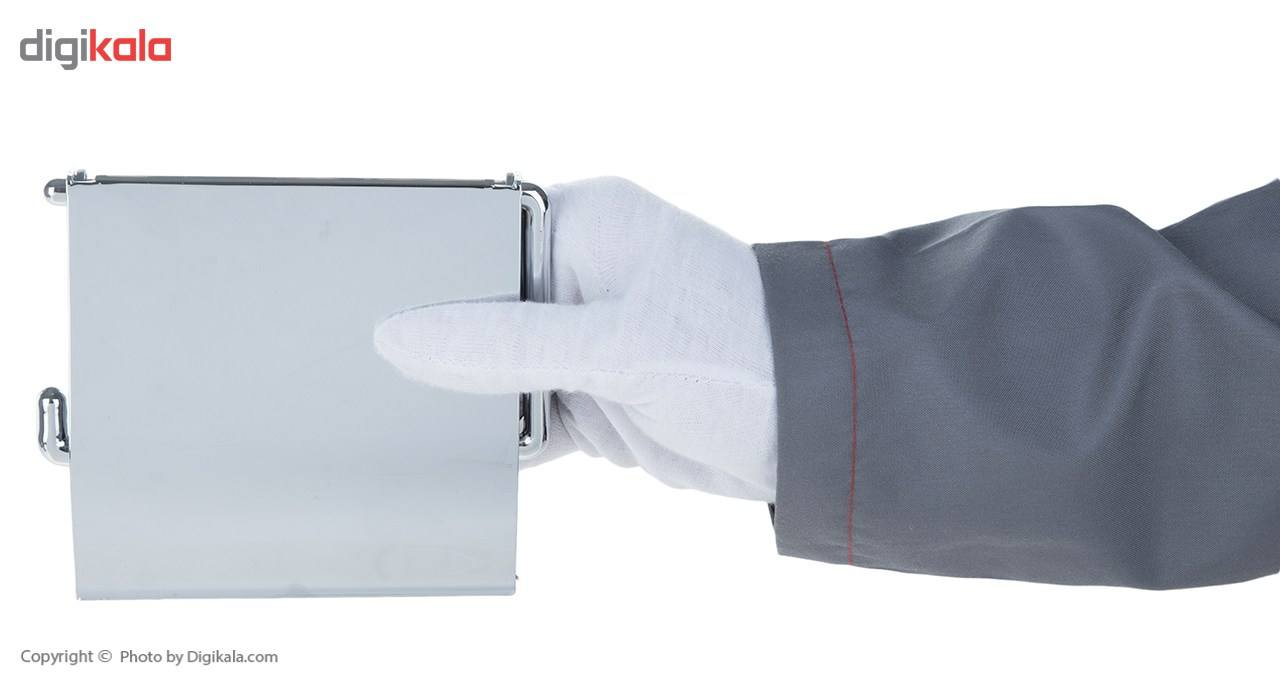 جای دستمال توالت سنی پلاستیک مدل Sarv main 1 4
