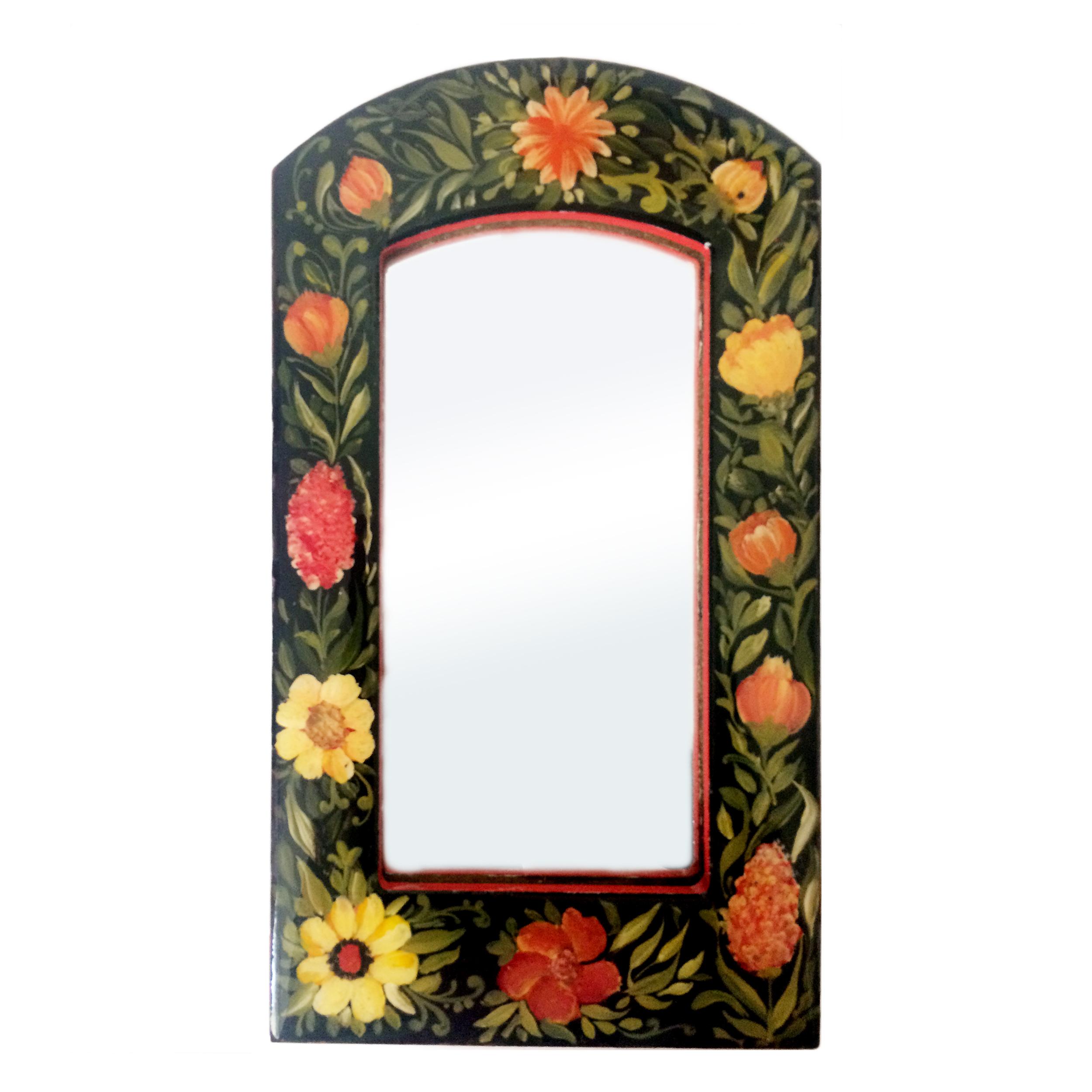 آینه مدل گل و مرغ کد 004