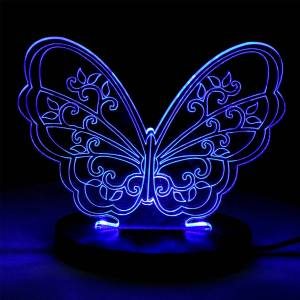 چراغ خواب سه بعدی سهیل مدل پروانه