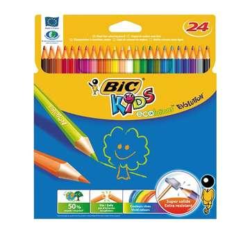 مداد رنگی 24 رنگ بیک مدل Kids Ecolutions Evolution