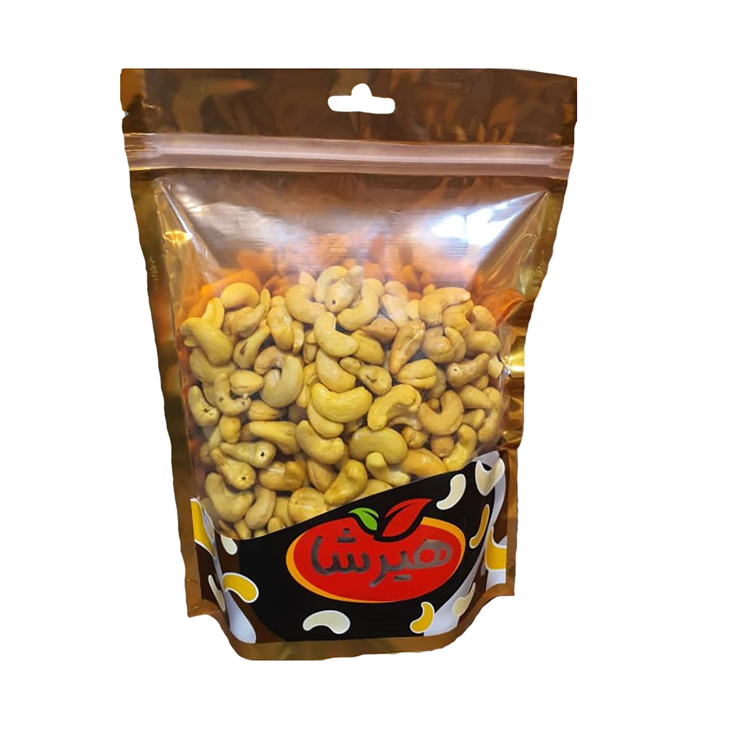 بادام هندی نمکی زعفرانی هیرشا - 400 گرم