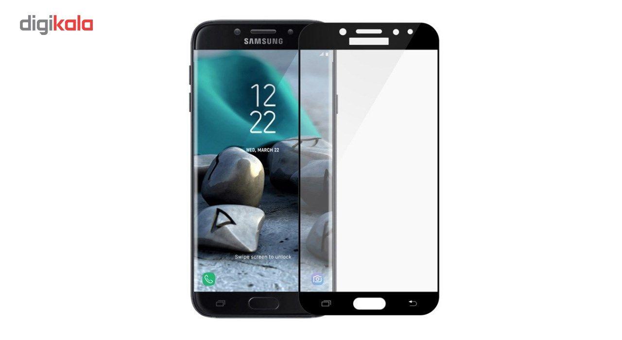 محافظ صفحه نمایش شیشه ای کوالا مدل Full Cover مناسب برای گوشی موبایل سامسونگ Galaxy J7 Pro main 1 2