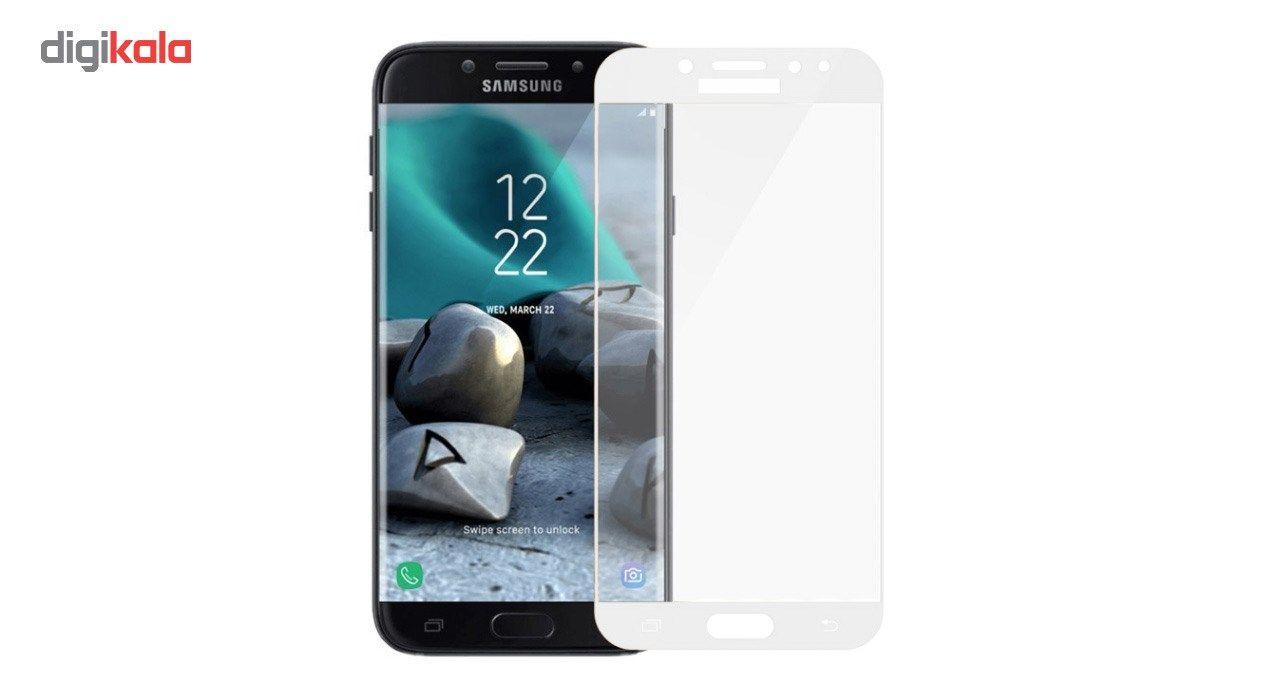 محافظ صفحه نمایش شیشه ای کوالا مدل Full Cover مناسب برای گوشی موبایل سامسونگ Galaxy J7 Pro main 1 4