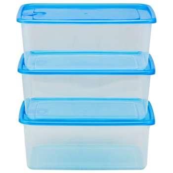 ست سه تکه ظرف نگهدارنده فرش باکس مدل 2800 آبی