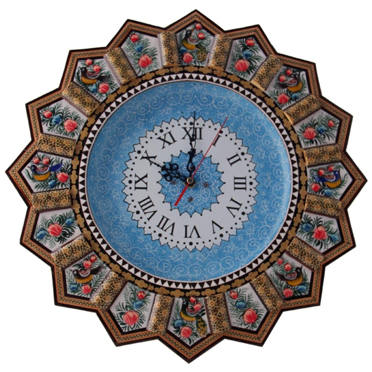 ساعت دیواری خاتم و میناکاری مارکت لند کد Mkh165