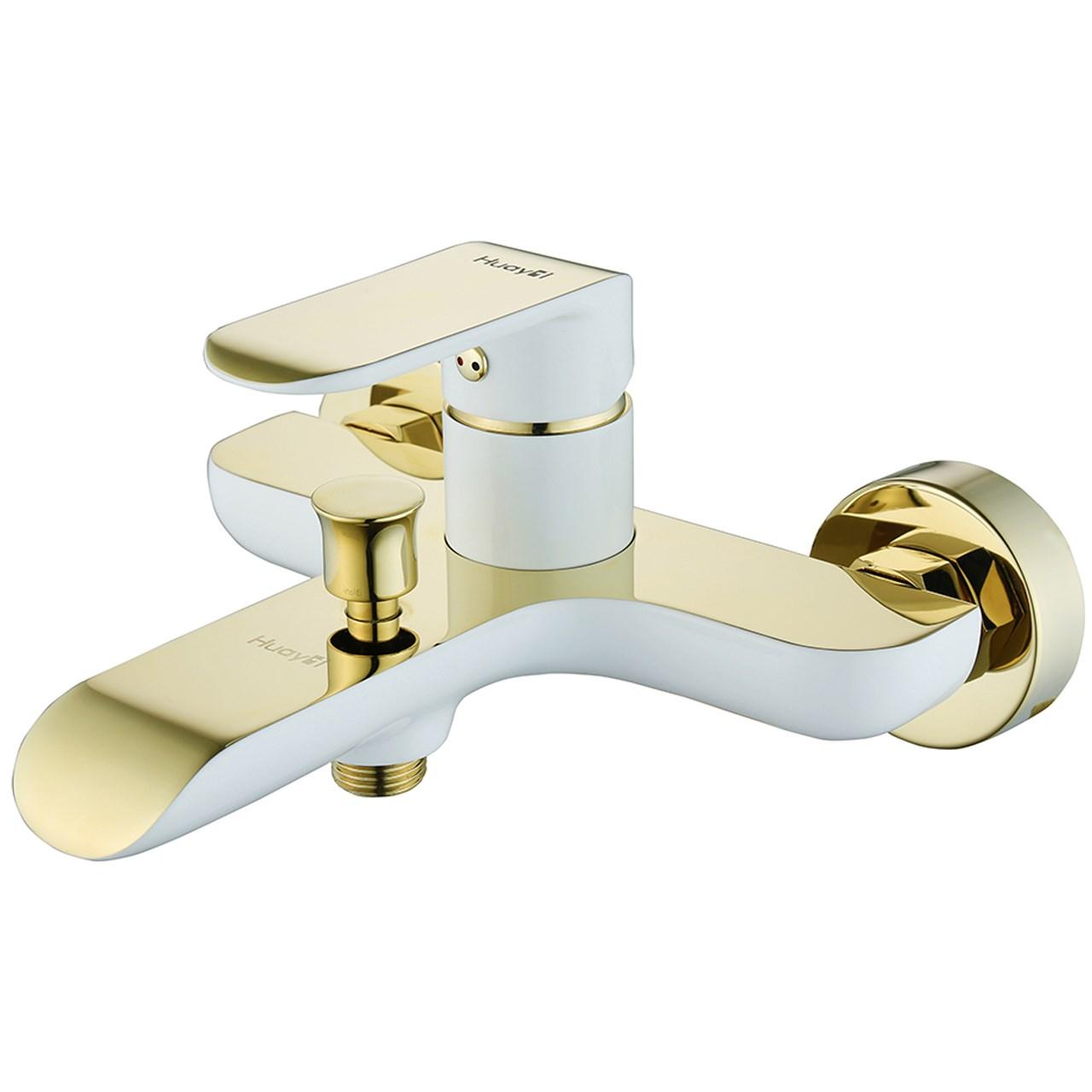 شیر حمام هوآیی مدل یولاندا سفید طلایی