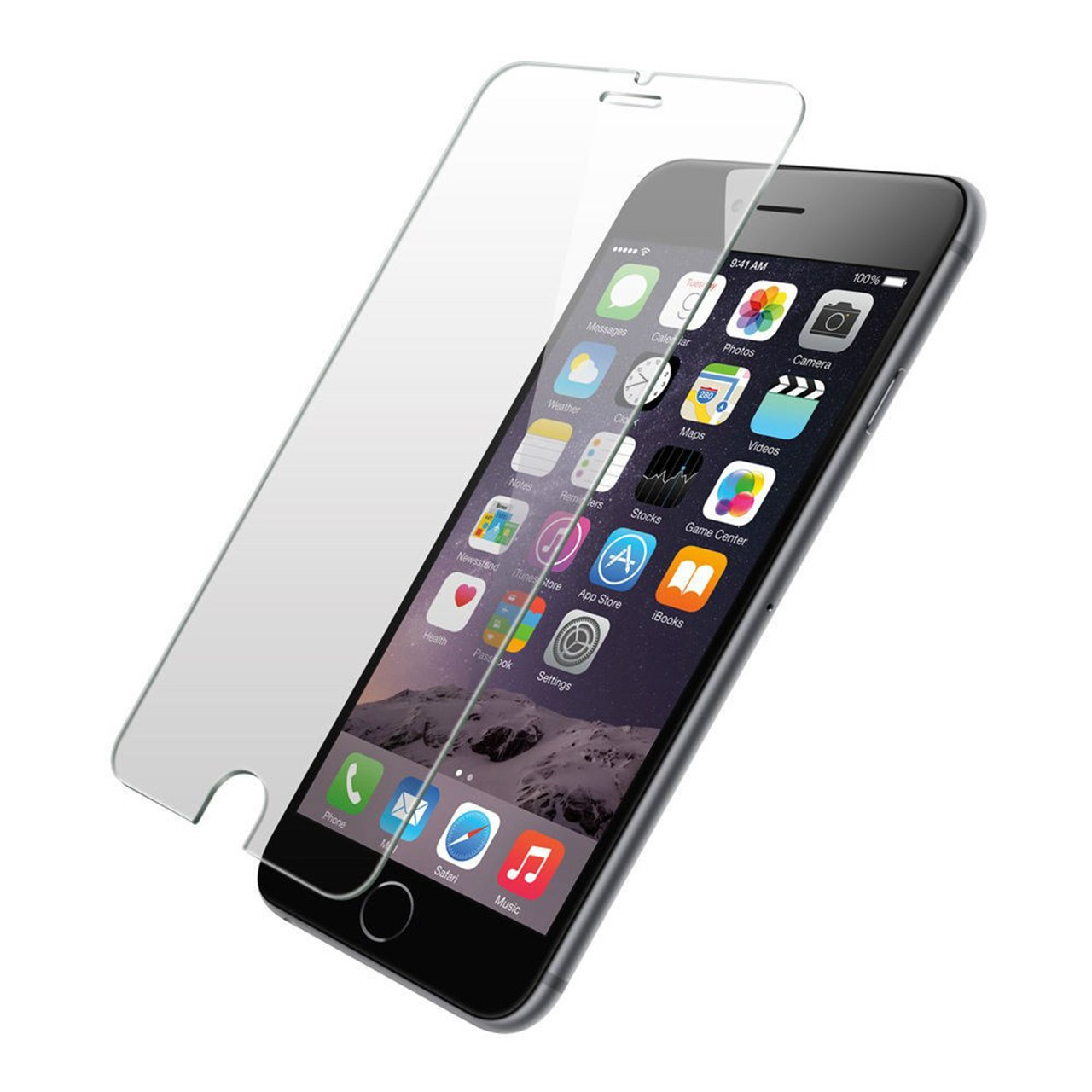 محافظ صفحه نمایش شیشه ای گلس مدل تمپرد مناسب برای گوشی موبایل اپل آیفون 6/6s plus