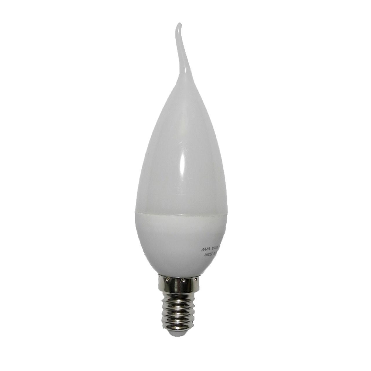 لامپ ال ای دی 6 وات شمعی اشکی خزرشید پایه E14