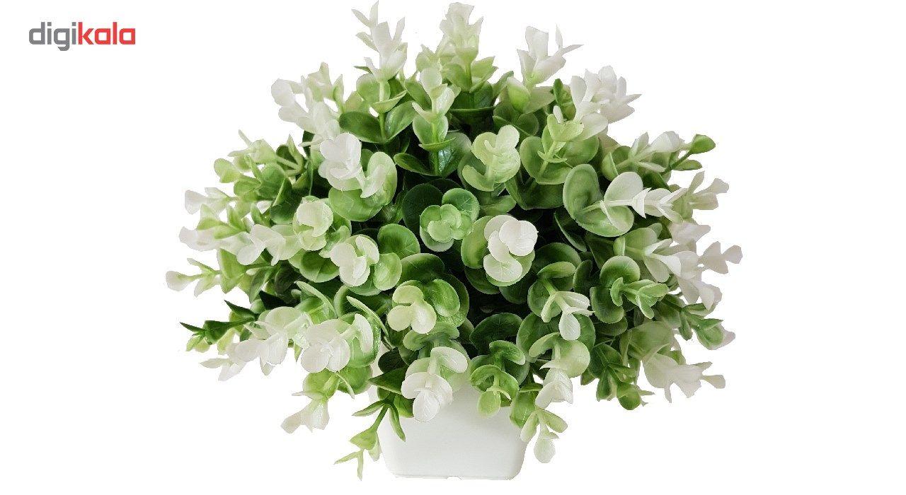 گلدان به همراه گل مصنوعی بخشی مدل SH313 main 1 4