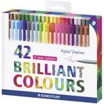 روان نویس 42 رنگ استدلر مدل Triplus Fineliner Brilliant Colours thumb
