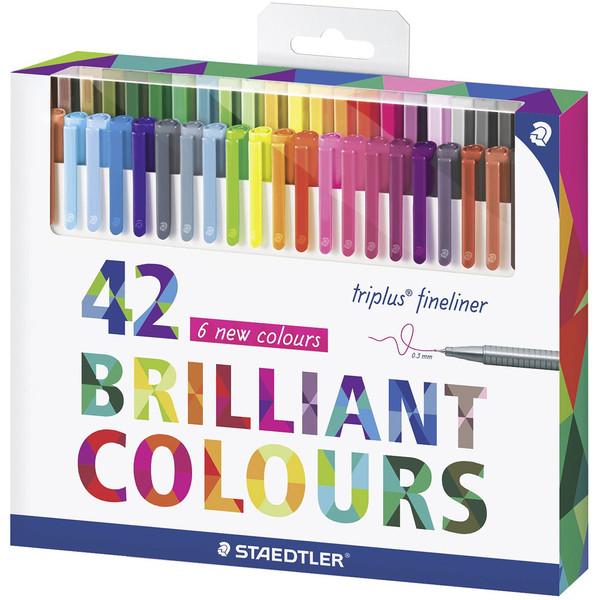روان نویس 42 رنگ استدلر مدل Triplus Fineliner Brilliant Colours