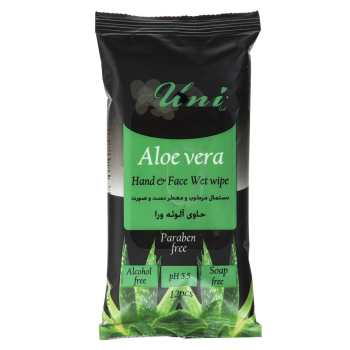 دستمال مرطوب یونی لد مدل Aloe Vera بسته 12 عددی