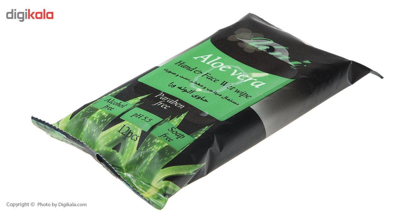 دستمال مرطوب یونی لد مدل Aloe Vera بسته 12 عددی main 1 2