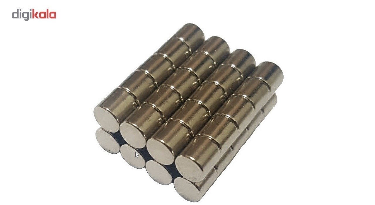 آهن ربا مدل استوانه 5x5mm بسته چهل عددی
