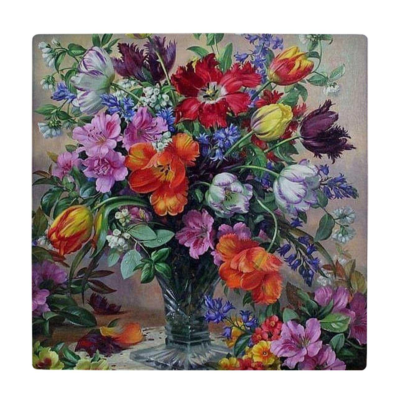 خرید                                         کاشی طرح گلدان گل کد wk3424