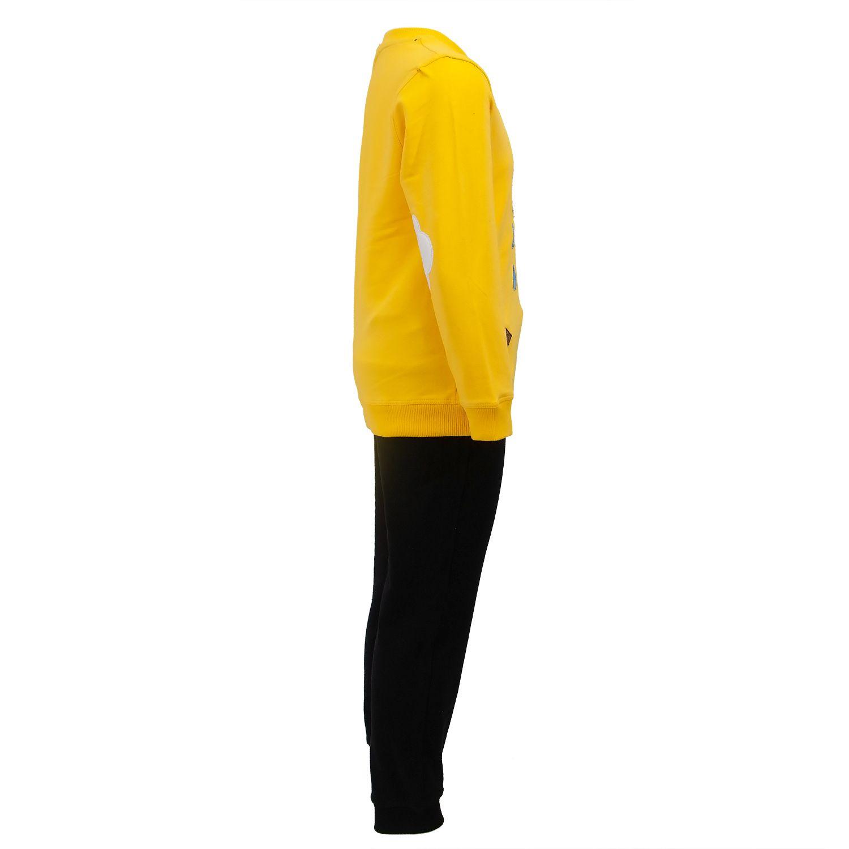 ست تیشرت و شلوار پسرانه طرح ابر کد 403 رنگ زرد -  - 6